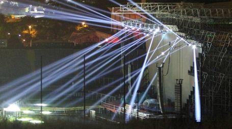 jovanotti,il palco-prova luci