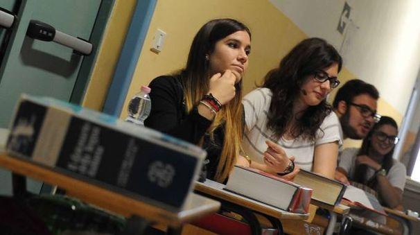 Studenti durante la lezione