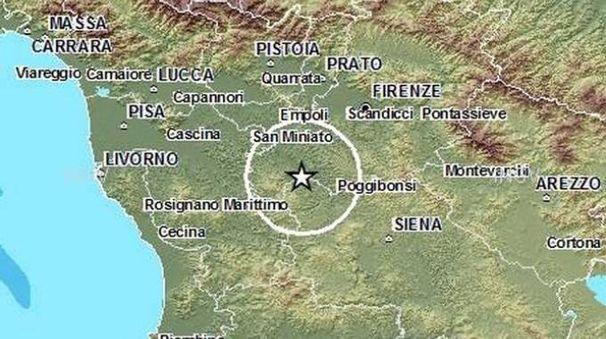 Terremoto nel Chianti, l'epicentro