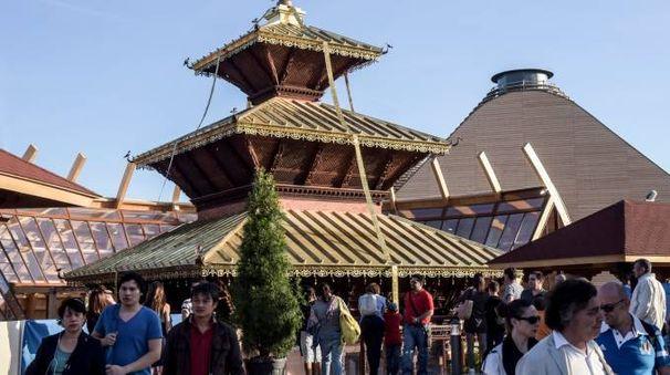 Lo stupa al centro del palazzo del Nepal è una delle costruzioni più fotografate