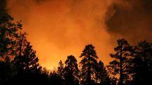 Grosso incendio in una foto d'archivio (Lapresse)