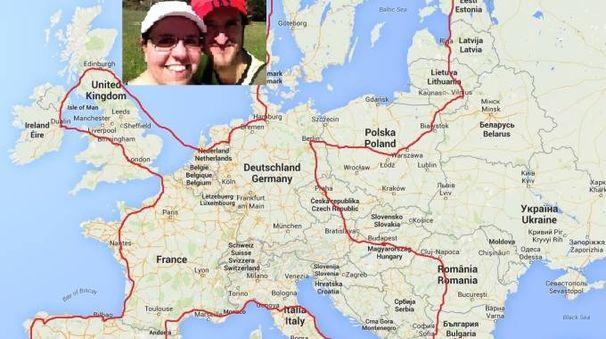 L'itinerario di Walkineurope, il viaggio a piedi in Europa di Francesca e Stefano