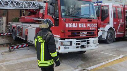 Un intervento dei vigili del fuoco di Fano