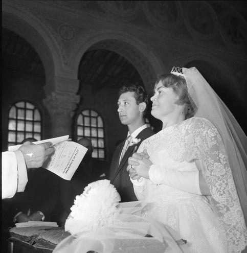 Il matrimonio di Edda con Giuseppe Negri, presentatore noto come nando Pucci (archivio Walter Breviglieri)