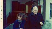 Riccione, Villa Mussolini, aprile 1973: Edda Negri Mussolini e la nonna Donna Rachele Guidi Mussolini