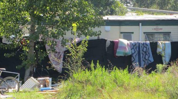 Campo nomadi (foto d'archivio)