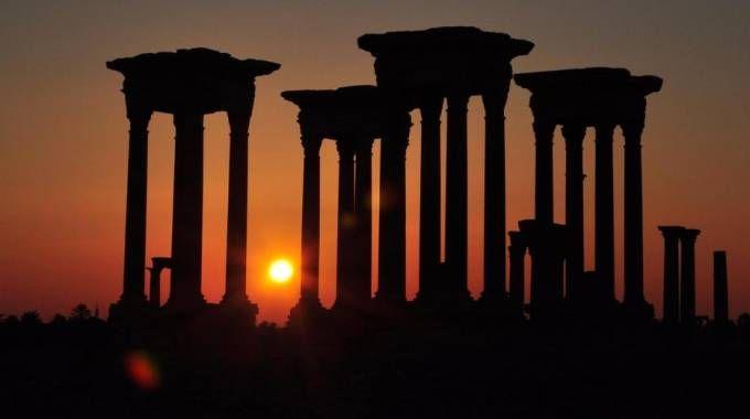 Il sito di Palmira, patrimonio dell'umanità Unesco (Ansa)
