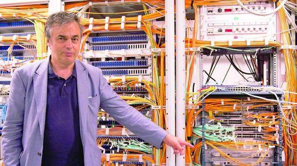 Luca Dell'Agnello, respondabile del team del Cnaf che supervisiona il lavoro del supercomputer