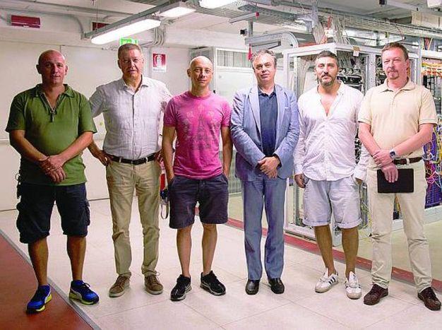 Il team del Cnaf che supervisiona il lavoro del supercomputer