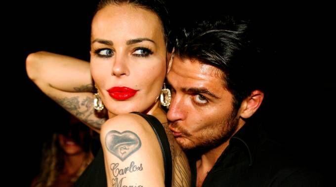 Nina Moric e il fidanzato Luigi Mario Favoloso