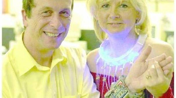 Kevin Warwick e la moglie Irene