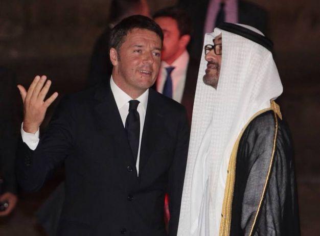Matteo Renzi riceve a Palazzo Vecchio  il principe ereditario degli Emirati Arabi Uniti Sceicco Mohammad Bin Zayed Al Nayan (New Press Photo)