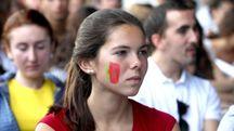 Una ragazza durante il progetto Erasmus