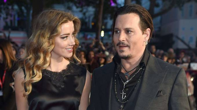 Johnny Depp ed Amber Heard (Olycom)