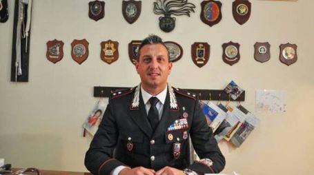 Il comandante della Tenenza carabinieri di Norcia, Tenente Enrico Alfano