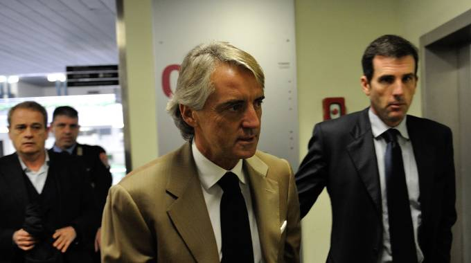 Ancona, Roberto Mancini in tribunale (Foto Emma)