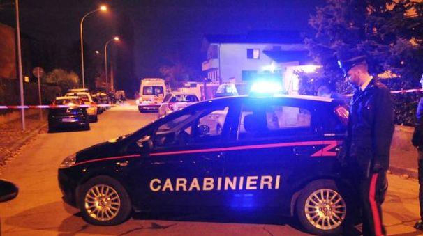 I carabinieri a Rodano (Newpress)