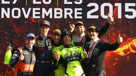 © Photo4 / LaPresse 29/11/2015 Monza, Italy Sport  Monza Rally Show 2015 In the pic:Valentino Rossi Carlo Cassina Thierry Thierry Neuville Julien Vial Roberto Brivio Davide Brivio