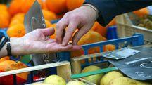 Spesa al supermercato (Ansa)