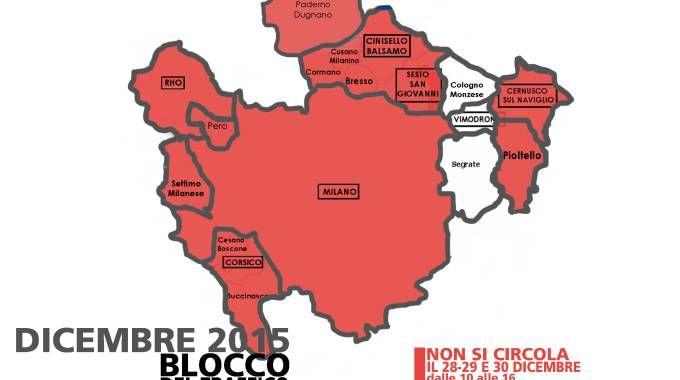 La mappa dei Comuni che hanno aderito al blocco dello smog