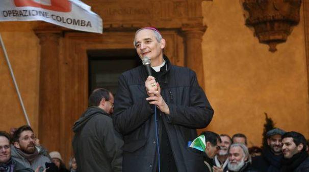 Monsignor Zuppi alla marcia per la pace