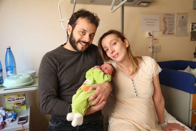 Elena Forni e Luca Migliore, con il loro Samuele