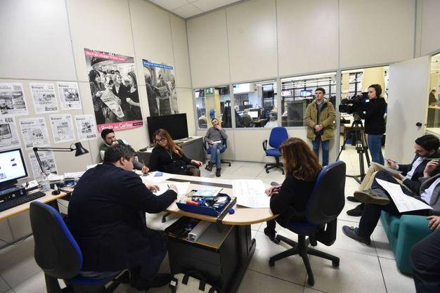Cronaca di Bologna: la riunione di redazione (Foto Schicchi)