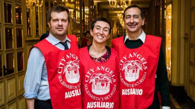 I tre candidati sindaco di Milano con i City Angels