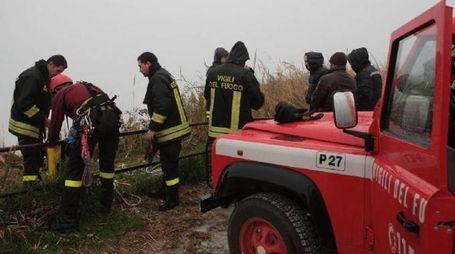 Vigili del fuoco impegnati nelle ricerche (foto d'archivio)