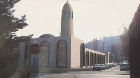 La simulazione della moschea che in una prima ipotesi di progetto era prevista su un'area diversa, in via Baioni