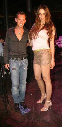 Con la modella Nina Moric (Foto Fiocchi)