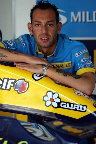 Matteo Cambi  al Gp di F1 di Imola nel 2005 (Foto LaPresse)