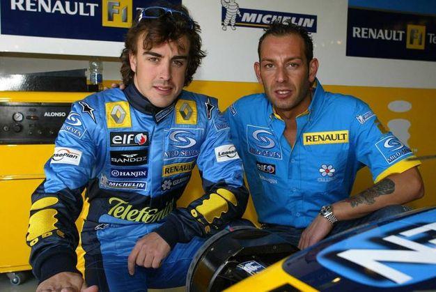 Con Fernado Alonso (Foto LaPresse)