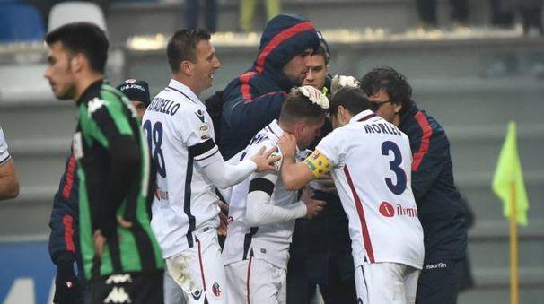 La gioia del Bologna, la delusione del Sassuolo (FotoSchicchi)