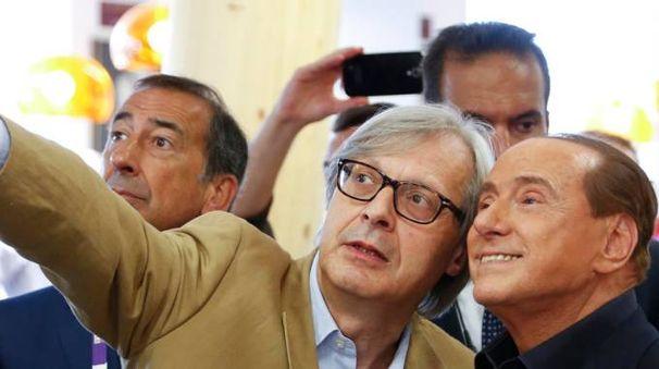 Sgarbi e Berlusconi