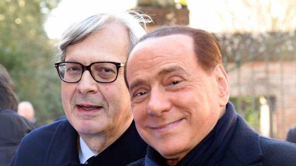 Vittorio Sgarbi e Silvio Berlusconi (Businesspress)
