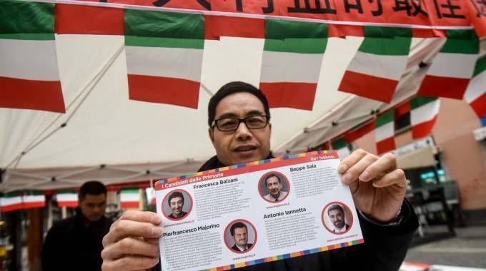 Gazebo elettorale a Chinatown