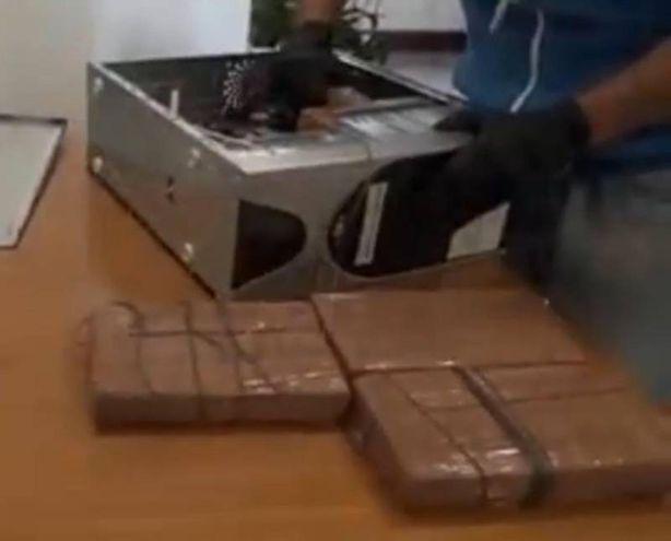 Cocaina nascosta nei computer