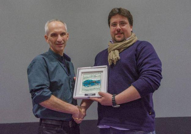 Davide Lopresti con Martin Edge, giudice e fotografo subacqueo