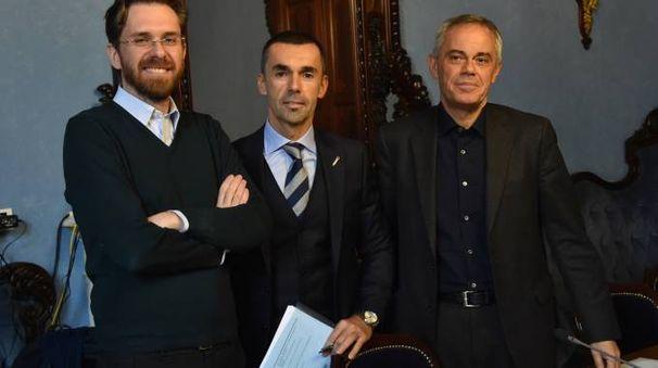 Matteo Lepore, Giovanni Trombetti e Giancarlo Tonelli