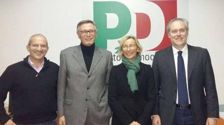 DA SX: CAPRIOTTI PERAZZOLI SORGE DI FRANCESCO