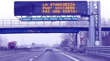 Un tratto autostradale dove è in vigore il sistema Safety Tutor per il rilevamento della velocità