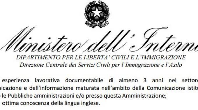 Il Ministero Dell 39 Interno Cerca Un Addetto Stampa Il