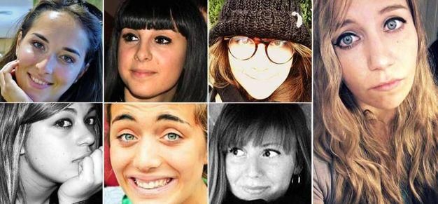 Le sette vittime italiane (Ansa)