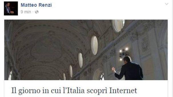 Matteo Renzi annuncia l'Internet Day (Dire)