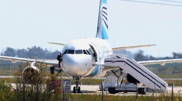 L'aereo dirottato