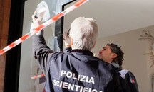 La polizia scientifica in azione