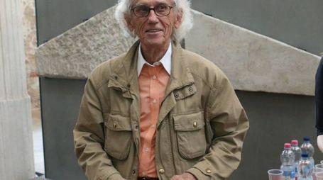 Christo ,presentazione mostra Christo ,Brescia 6 aprile 2016. Ph Fotolive Simone Venezia