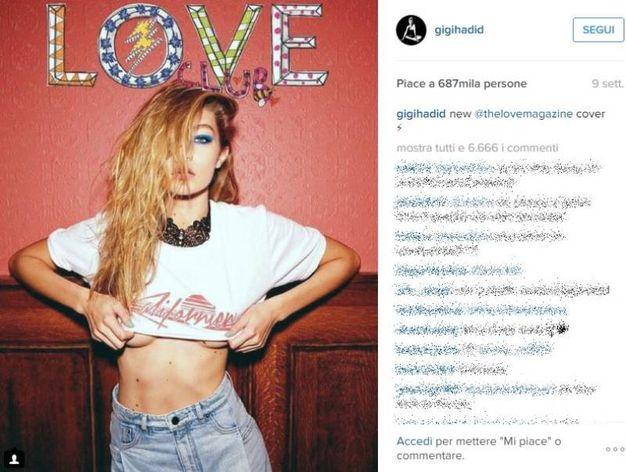Gigi Hadid (Instagram)