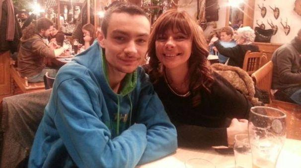 Edoardo Baccin e la madre Stefania